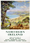 Cushendun, Antrim Coast Road, Northern Ireland. Vintage Travel poster by LA Wilcox
